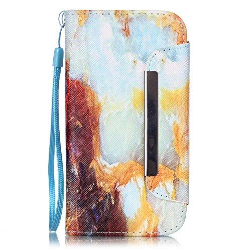 Nancen Compatible with Handyhülle Galaxy S4 / I9500 (5,0 Zoll) Leder Hülle/Case. PU Flip-Case Lederhülle Handyhülle Brieftasche Tasche