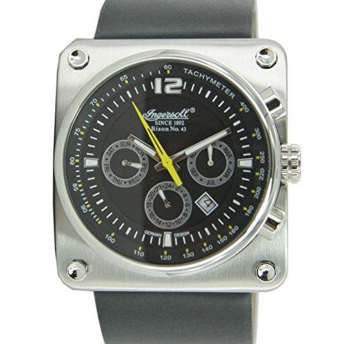 Ingersoll Bison No.43 IN4108SBK Men's Automatic Wrist Watch Leather Limited Edition