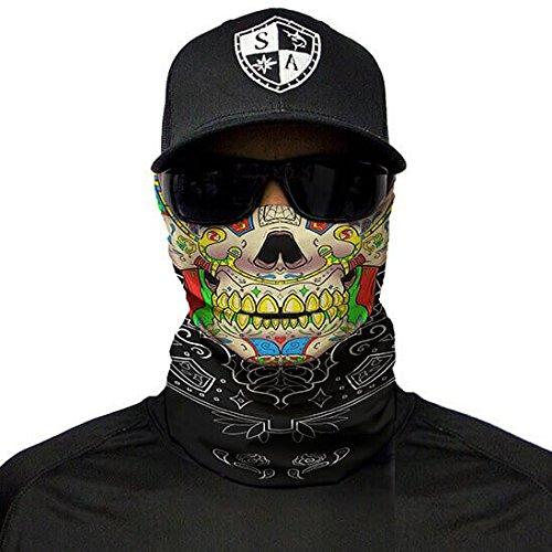 SA Company Face Shield Sturmhaube **verschiedene Designs** Multiunktionstuch Maske Fishing Totenkopf Schal Skull Bandana Gesichtsmaske Halstuch Ski Motorrad Paintball (Calavera Skull)