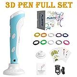 Plusinno® 3D Drucker Stift DIY Scribbler 3D Stereoscopic Printing Pen mit LCD-Bildschirm + 13 PLA Filament (10 verschiedene Farben) + 10 Papier Modelle für die Praxis der EU -