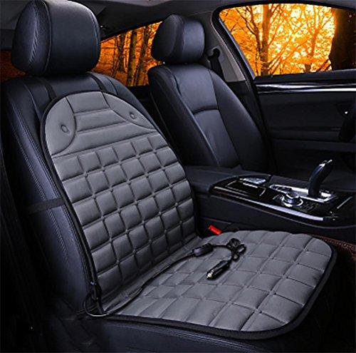 Sitzauflage Lkw-beheizbare (GAOFEI Beheizbare Sitzauflage mit Premium Stecker für Zigarettenanzünderdose für PKW, LKW, Kraftfahrzeuge mit 12V Anschluss , gray)