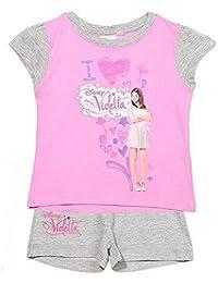 Violetta - Pyjama court Disney Violetta enfant taille de 3 à 6 ans - 4 ans,6 ans,8 ans,10 ans,3 ans