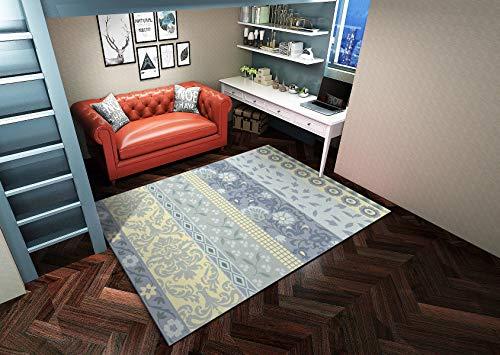Traditioneller Nationaler Stil Kind Schlafzimmer Teppich Winterisolierung S - XXXL Modern Mehrzweck Bodenmatte,Blue,200x300cm