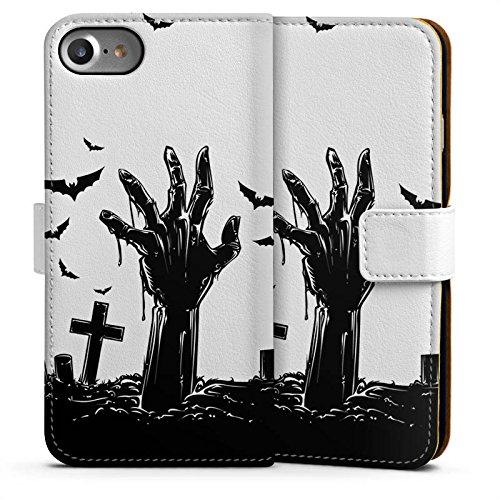 Apple iPhone 6 Silikon Hülle Case Schutzhülle Zombie Halloween ohne Hintergrund Sideflip Tasche weiß