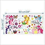 51aK2WhMqOL. SL160  My Little Pony Wall Stickers (Over 30 Stickers) From World of Stickers UK best buy Review