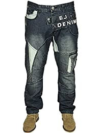 MENS BRAND NEW ETO JEANS LATEST TAPERED FIT IN STONE WASH COLOUR 28-40