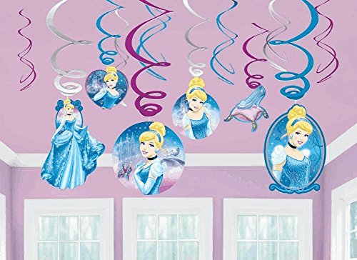 Cinderella 12 teiliges Girlanden Set - Swirl Girlanden - Disney Princess -