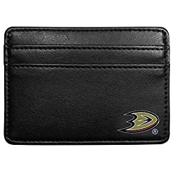 NHL Anaheim Ducks Leather Weekend Wallet, Black
