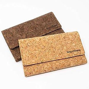 Tabaktasche 'Taruk' Kork vegan – Set inkl. Gizeh Papers – Tabak-Beutel Drehertasche mit Magnetverschluss, Filterfach…
