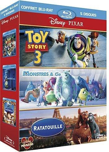 Coffret pixar 2011 : toy story 3 ; monstres et cie ; ratatouille [Blu-ray] [FR Import]