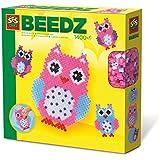 SES Creative - Cuentas para planchar de búhos, multicolor (06124)