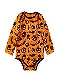 Costume di Halloween per Bambini, MEIbax Nuovo Prodotto Risparmia 90% Pagliaccetto Manica Lunga Halloween Cranio Stampa Zucca
