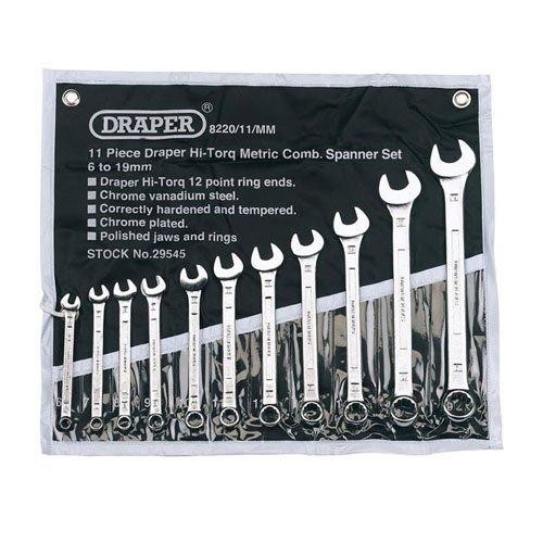 Draper Expert 29545 - Chiavi combinate, sistema metrico, 11 pezzi