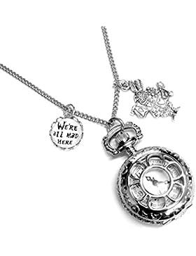 Alice im Wunderland, wir sind alle verrückt hier Pocket Watch Halskette