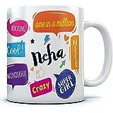 Ramposh Neha Name Printed Ceramic Coffee Mug. 350 Ml. Best Gift For Birthday