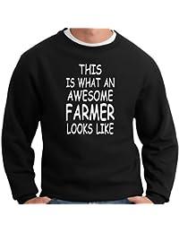 Esto Es Lo Que Un Impresionante agricultor LOOKS LIKE para hombre Novelty Funny sudadera tractor cabina accesorios agricultores. Cumpleaños o Navidad ideas de regalo para un agricultor