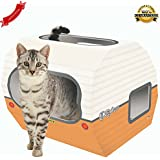 *NEW* Cardboard Cat Toys - Kitty Camper are Perfect Playhouses for the Indoor Pet – Includes Accessories: Feather, Mouse and a Corrugated Base