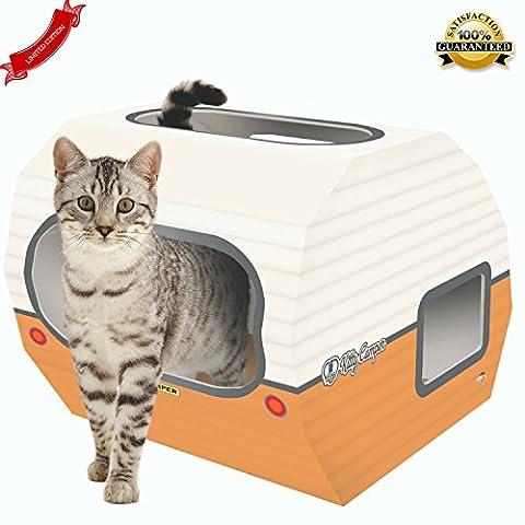 Kitty Camper Maison pour chat en Carton