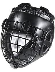 Metal Boxe MB423G - Casco de artes marciales, color negro, talla L