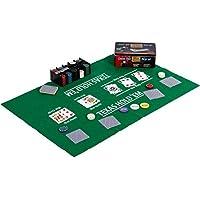 Pokerset in Metallbox, 200 Poker Chips, 2 Decks, Dealer Button, Small Blind, Big Blind, Spielmatte Texas Holdem