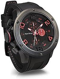 'Franco tiempo' Gavarnie Chronograph rojo Pulsera Cuarzo Reloj Hombre analógica