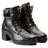 WRANGLER Scarpe Donna Stivali Sierra Leather in Pelle Nera WL172510-BLA