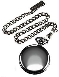 KS KSP001 - Reloj de Bolsillo de Cuarzo Estilo Vendimia, Caja Negro