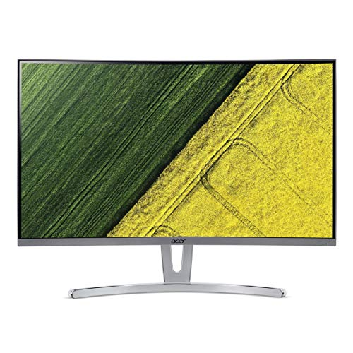 Acer ED273wmid 68,6 cm (27 Zoll) Multimedia Curved Monitor (Full HD, 1.920 x 1.080, 75hz, 4ms Reaktionszeit, ZeroFrame, DVI, HDMI, VGA, Audio Out) Silber - 1080p Computer-monitor