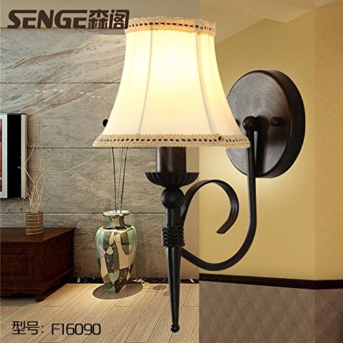 Upper-Nachttischlampe, Wandleuchte, retro, Land Schlafzimmer Lampe, einem Kopf Wohnzimmer Restaurant, Hotel Flur wand Lampe, ohne Lichtquelle