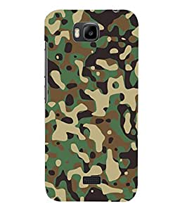 Fuson 3D Printed Army Dress Designer Back Case Cover for Huawei Honor Bee - D893