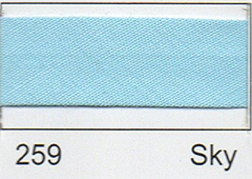 Polycotton Schrägband 12 mm - (2,5 M) Himmelblau