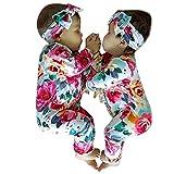 Ropa Bebe niño Invierno, Btruely Conjunto de Ropa Infantil del Mono del Mameluco de la impresión Floral de la Manga Larga bebés y niños Ropa Manga Larga Unisex