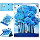 Amcor Love Universelle Schutzhülle für 10.1 Zoll / 25,65 cm Tablets, Multi Portemonnaie Stand Wallet Schutzhülle Case Cover mit Kreditkarten für Toshiba Encore 2 Write/iPad/Samsung Galaxy Tab S Animal Forest