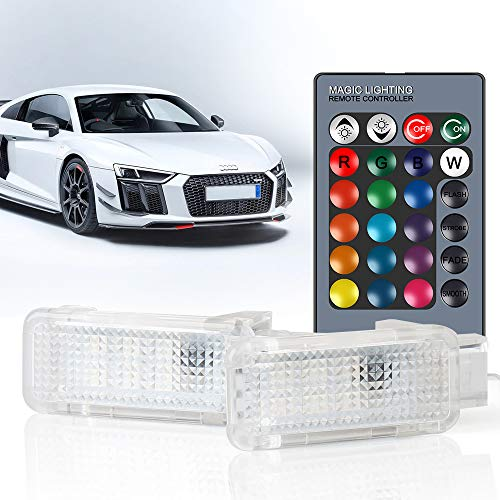RGB LED-Türleuchten Höflichkeitslampe Innenraumleuchte für A-u-d-i A3, A4, B5, B6, B7, B8, A6, C5, C6, A5, RS6, TT, Q5, Q7, A1, A7, R8, Q3, A8, Pack von 2
