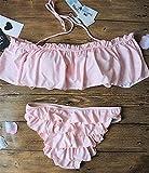 ZHRUI Costumi da Bagno Senza Spalline con Colletto Nuovo Bikini-Bikini (Colore : L, Dimensione : -)