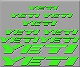 Ecoshirt 9U-OYYZ-ZDLH Stickers Yeti R210 Vinyle Stickers Decal Aufkleber, Vert