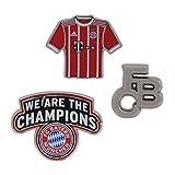 Pin 3er Set FC Bayern MÜNCHEN FCB + gratis Sticker