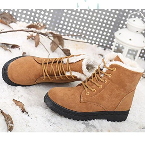 Women Snow Boots Shoes, SOMESUN Nuove donne classici pattini caldi Snow Boots Moda stivaletti invernali Brown