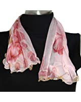 Bellewear Lotus Leaf Edge Silk Women's Scarf