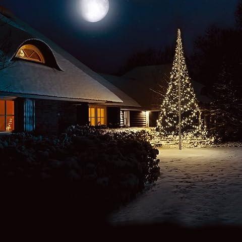 Sapin de Noël artificiel lumineux 6 m 720 LED blanc chaud de Fairybell
