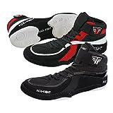 FOX-FIGHT Ringer Schuhe (Wrestling) / Wildleder (43 - schwarz)