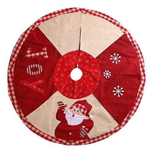 AJIAMA Faldas áRbol Navidad PatróN Papá Noel Falda