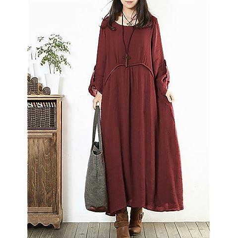 LXHAUS-Vestito Da donna Asimmetrico Bottone / A