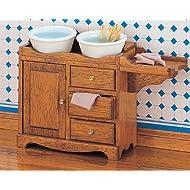 MiniMundus - Mobiletto per il lavello per casa delle bambole, da assemblare