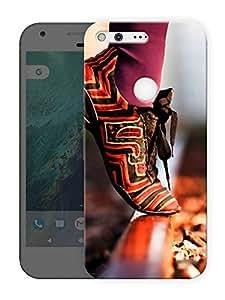 "Humor Gang colorful shoes girl Printed Designer Mobile Back Cover For ""Google Pixel XL"" (3D, Matte Finish, Premium Quality, Protective Snap On Slim Hard Phone Case, Multi Color)"
