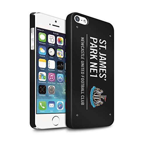 Offiziell Newcastle United FC Hülle / Matte Snap-On Case für Apple iPhone 5/5S / Pack 6pcs Muster / St James Park Zeichen Kollektion Schwarz/Weiß