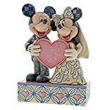 Disney Traditions Due Anime, Un Solo Cuore-Mickey and Minnie Mouse Wedding Figurine, Resina, Multicolore, 130x60x180 cm