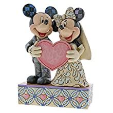 Disney Traditions Two Souls, One Heart (Mickey Mouse & Minnie Mouse) Figurine, Resina, Multicolore, 130x60x180 cm