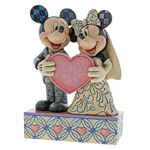 Disney Traditions Two Souls, One Heart - Mickey and Minnie Mouse Wedding Figur (Herz Disney Mickey)