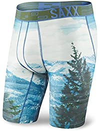 SAXX x Kevin Love Men's The Eastwood Long Leg Boxer Brief Underwear Blue